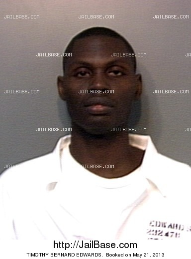 TIMOTHY BERNARD EDWARDS mugshot picture