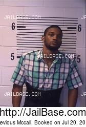 Akevious Mccall mugshot picture