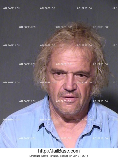 LAWRENCE STEVE RONNING mugshot picture