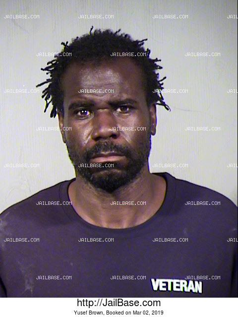 Yusef Brown mugshot picture