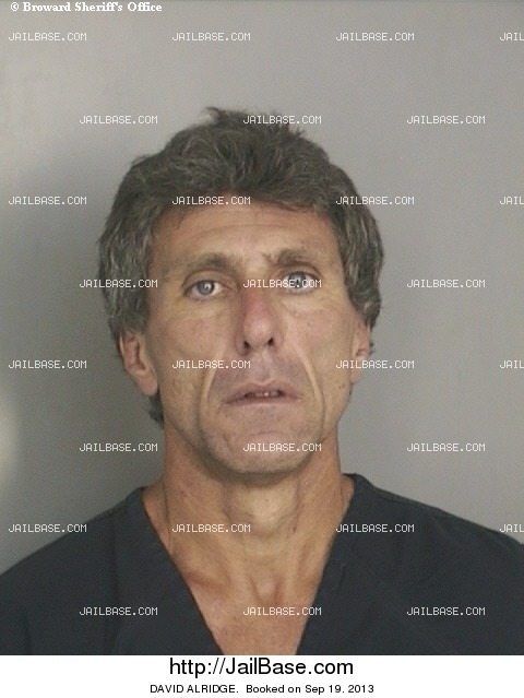 DAVID ALRIDGE mugshot picture